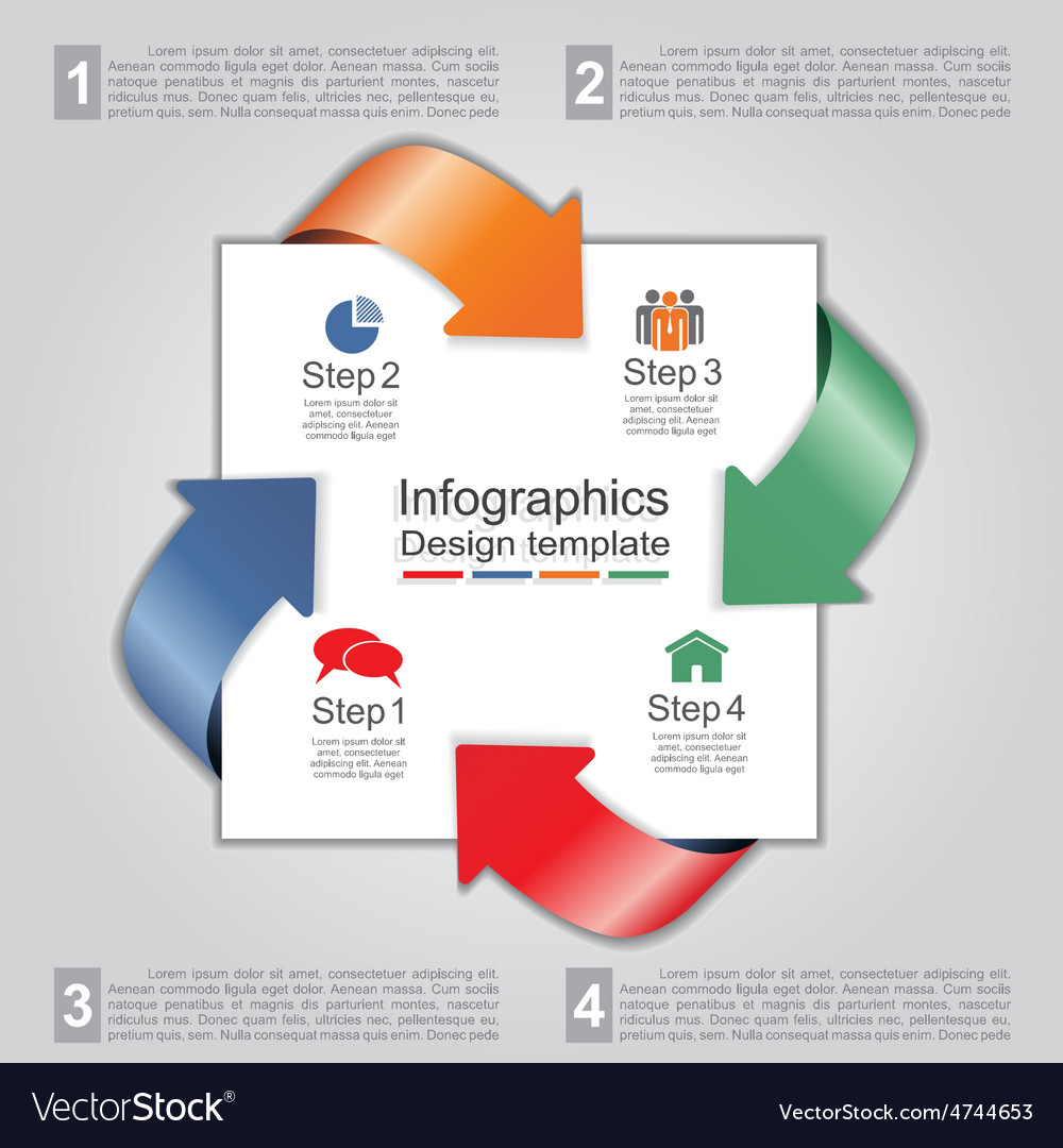 Infographic design template with elements and vector | Price: 1 Credit (USD $1)