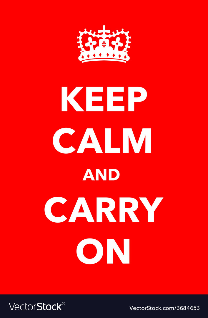 Keep calm poster vector | Price: 1 Credit (USD $1)
