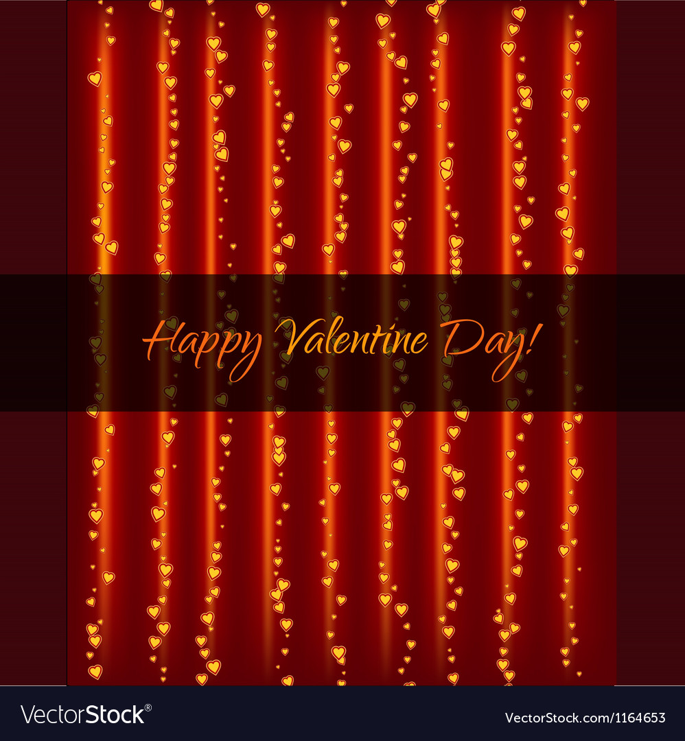 Lightning garland with hearts vector | Price: 1 Credit (USD $1)