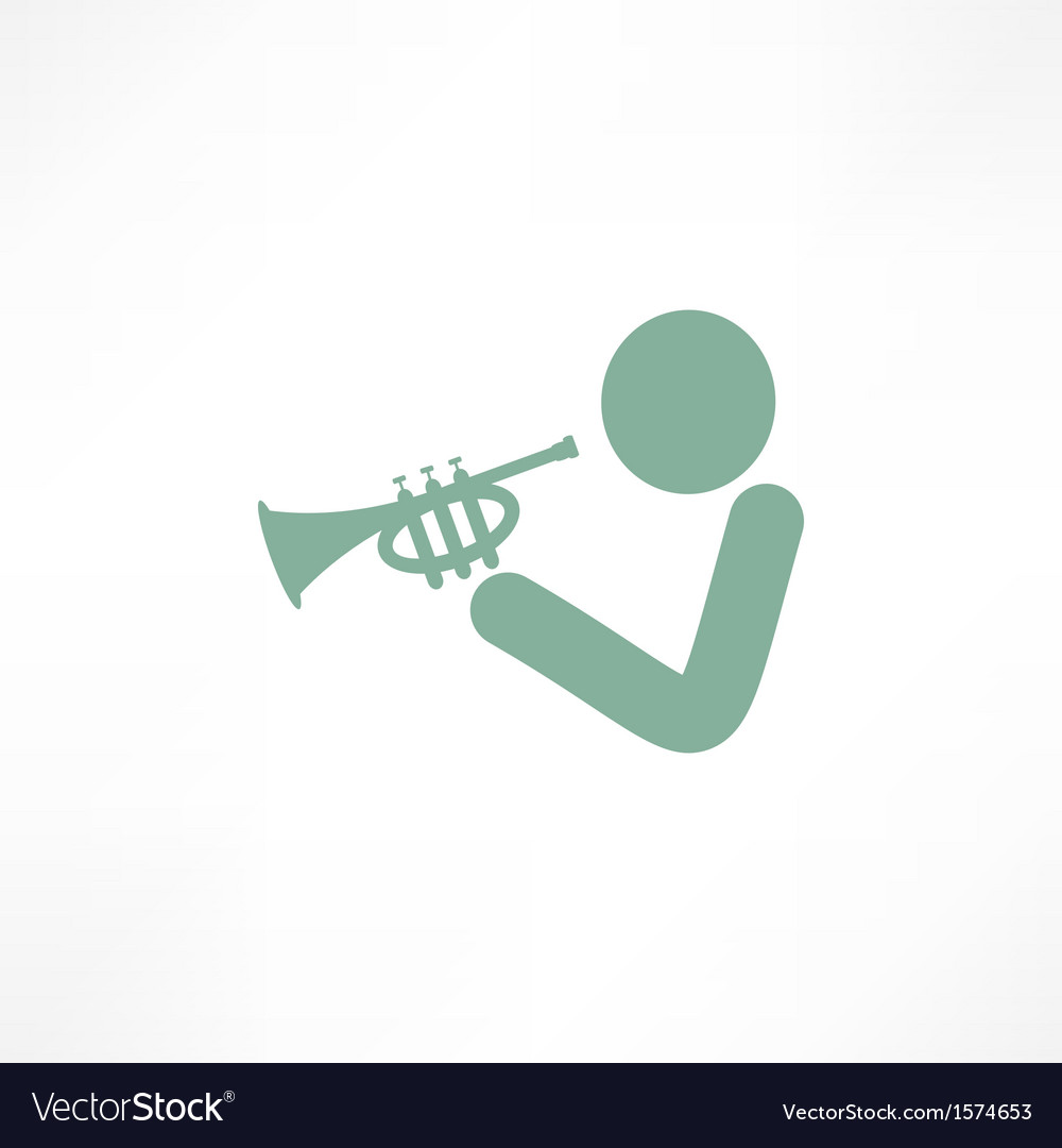 Musician playing trumpet vector | Price: 1 Credit (USD $1)