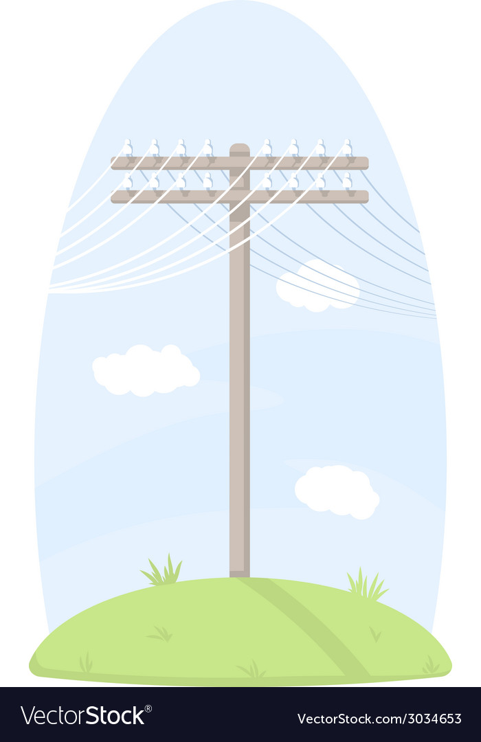 One telegraph pole vector | Price: 1 Credit (USD $1)
