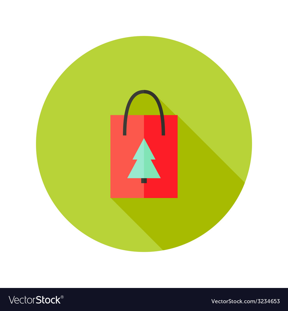 Pack with christmas tree flat icon vector | Price: 1 Credit (USD $1)