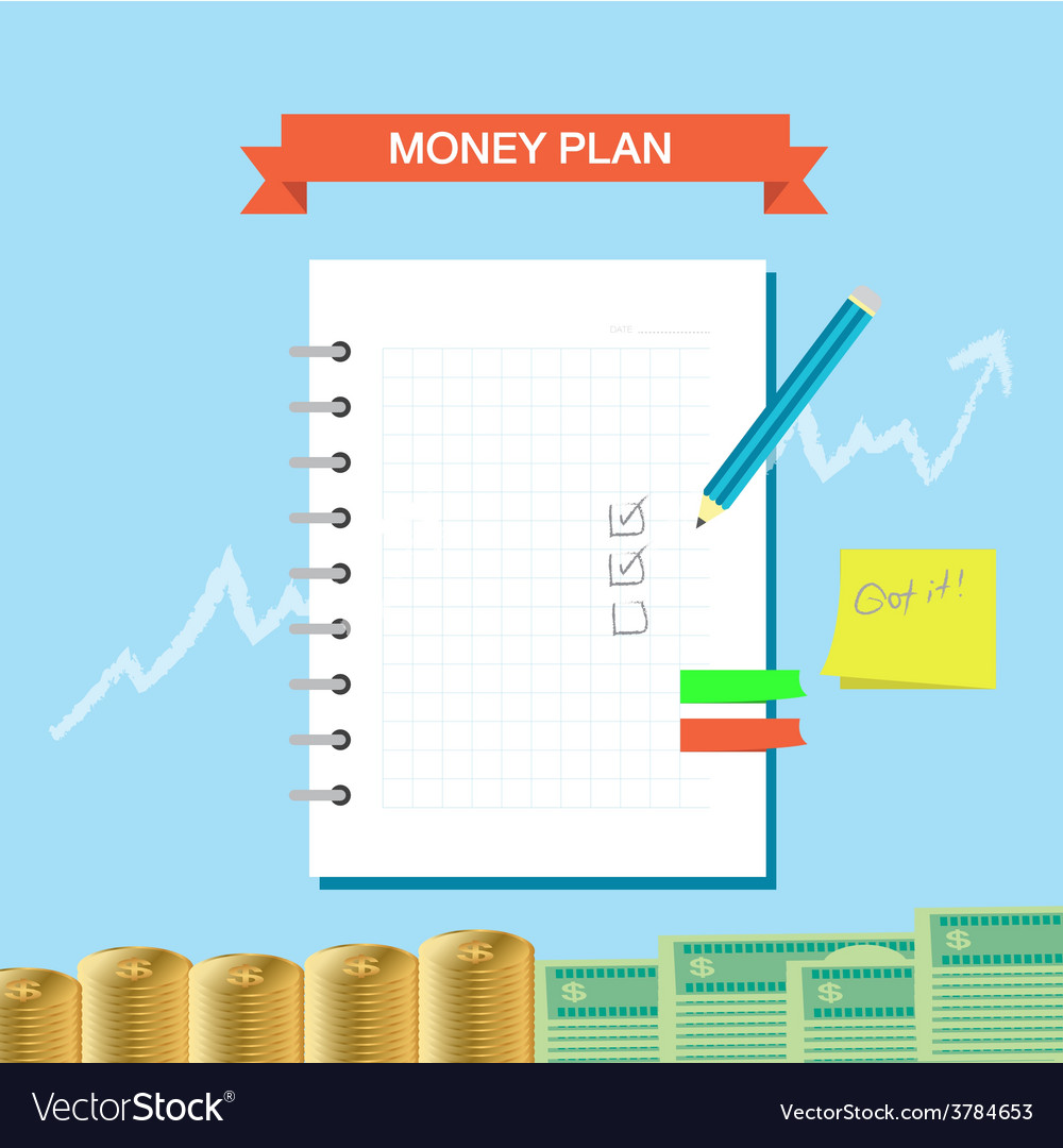 Plan note 002 vector | Price: 1 Credit (USD $1)
