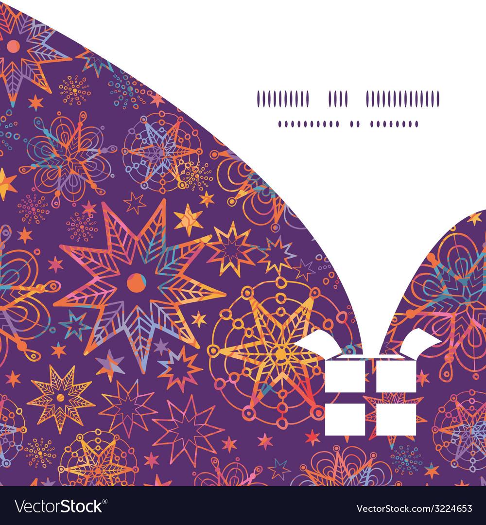 Textured christmas stars christmas gift box vector | Price: 1 Credit (USD $1)