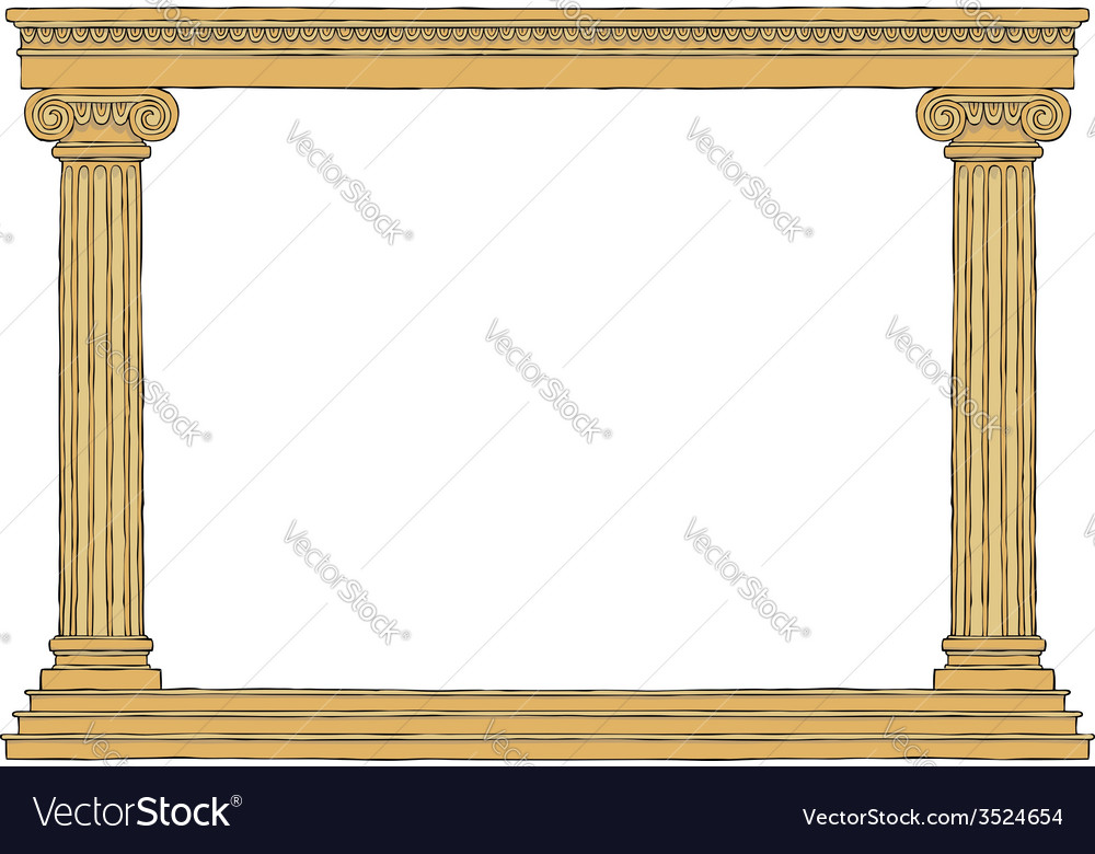 Ancient colonnade vector | Price: 1 Credit (USD $1)