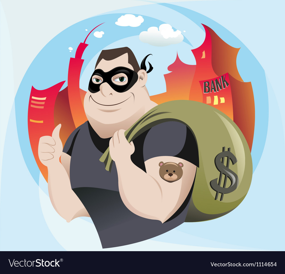 Bank robber vector | Price: 3 Credit (USD $3)