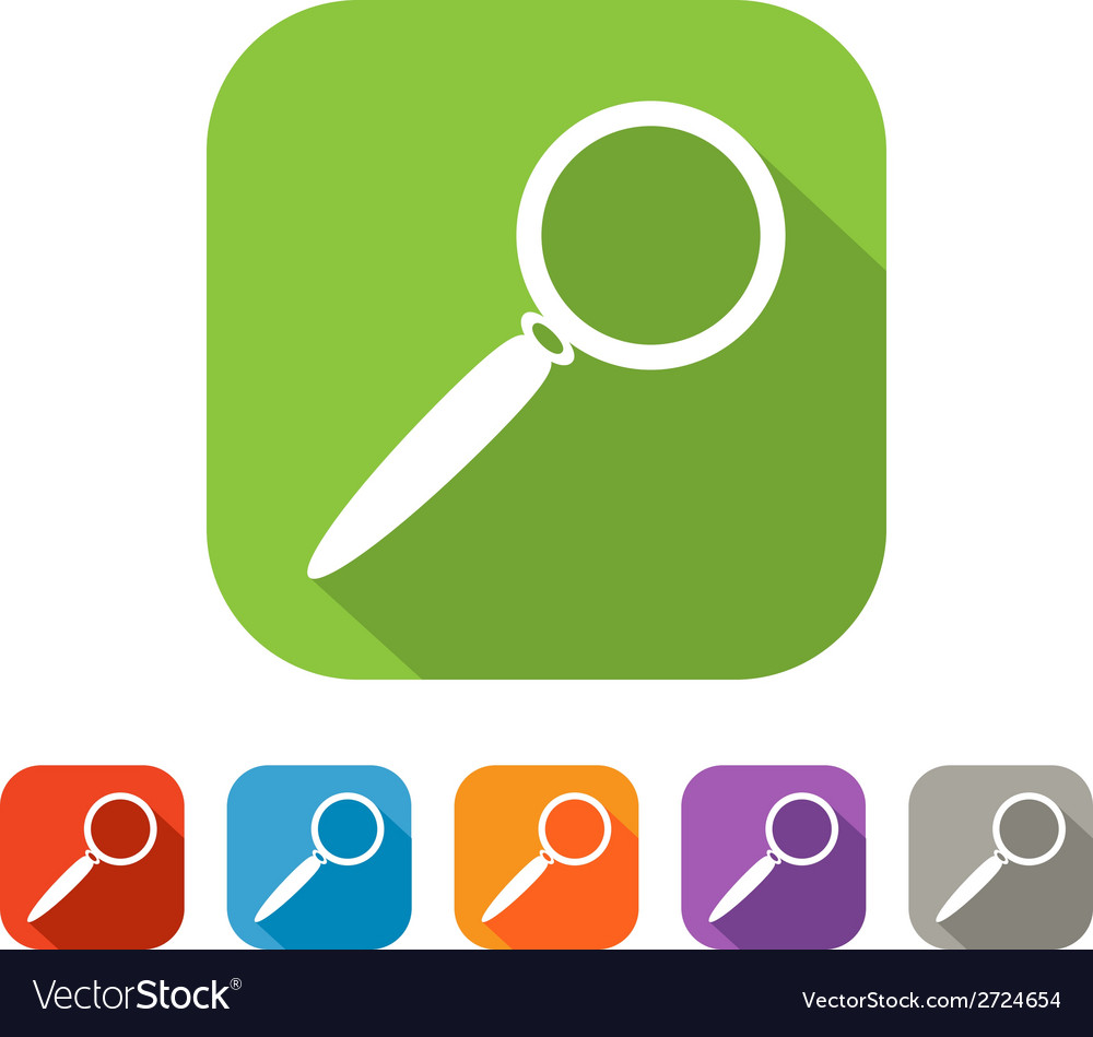 Color set of flat search icon vector | Price: 1 Credit (USD $1)