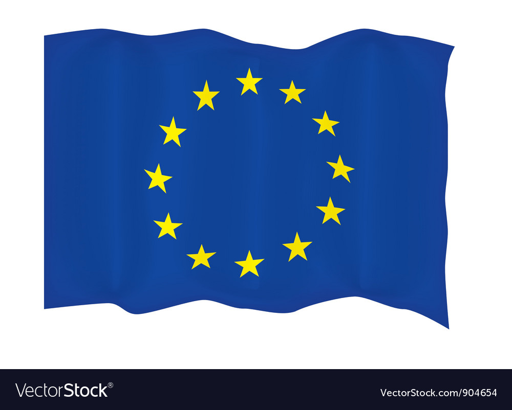 European union flag vector | Price: 1 Credit (USD $1)
