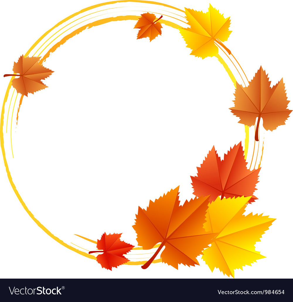 Frame with leaves vector | Price: 1 Credit (USD $1)