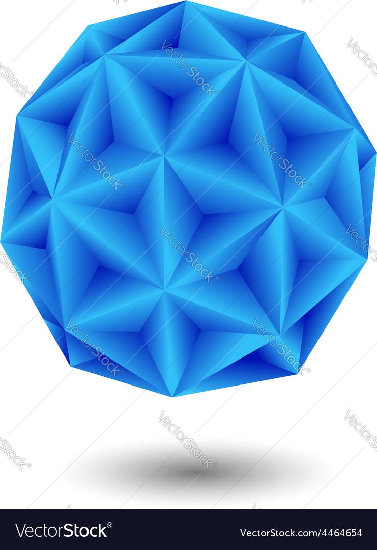 Geometric blue vector