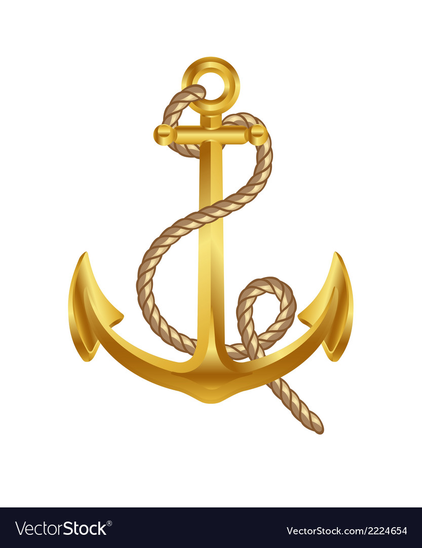Gold anchor art icon symbol vector | Price: 1 Credit (USD $1)