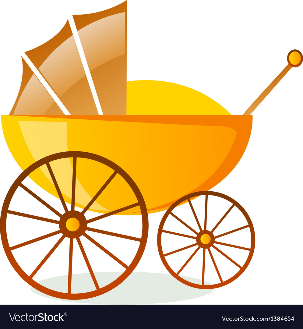 Icon baby carriage vector | Price: 1 Credit (USD $1)