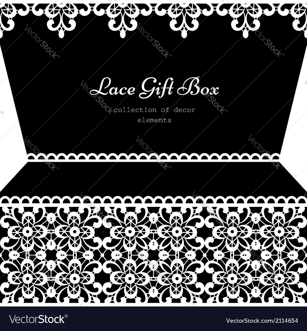 Lacy gift box vector | Price: 1 Credit (USD $1)