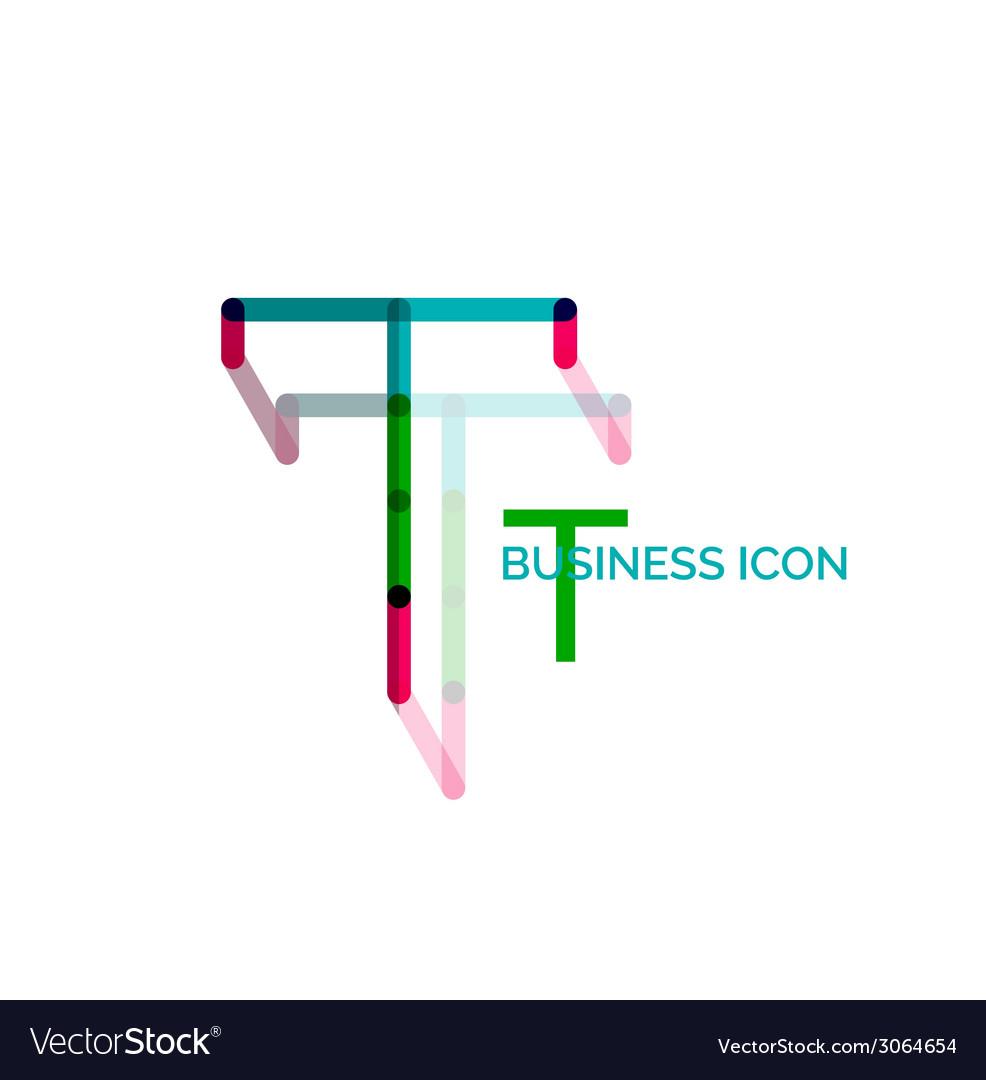 Minimal t font or letter logo design vector | Price: 1 Credit (USD $1)