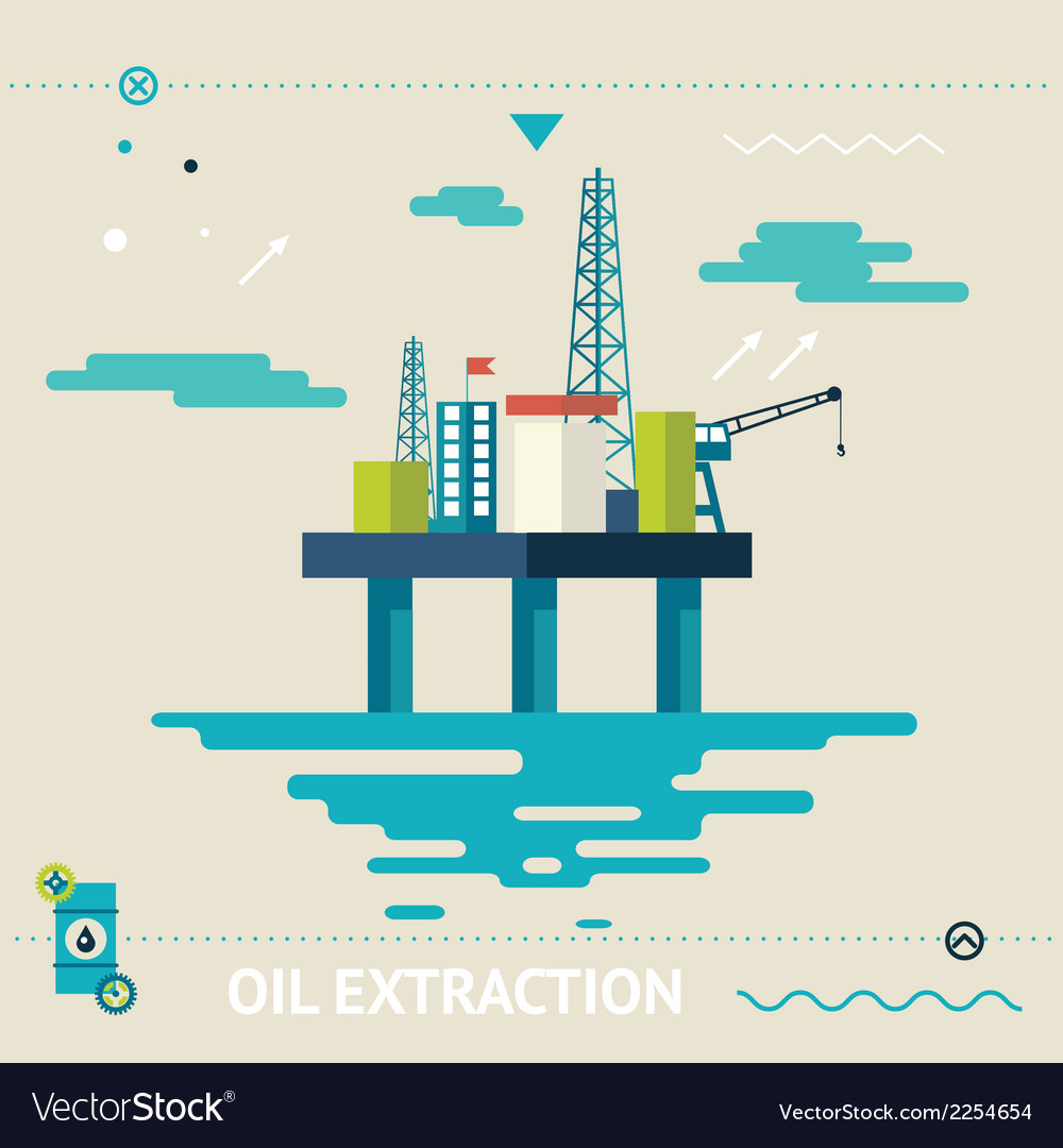 Oil offshore platform colloquially rig symbol vector | Price: 1 Credit (USD $1)
