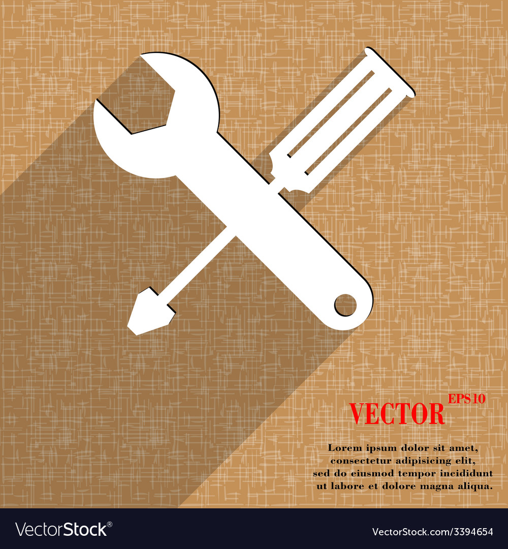 Screwdriver wrench icon symbol flat modern web vector | Price: 1 Credit (USD $1)