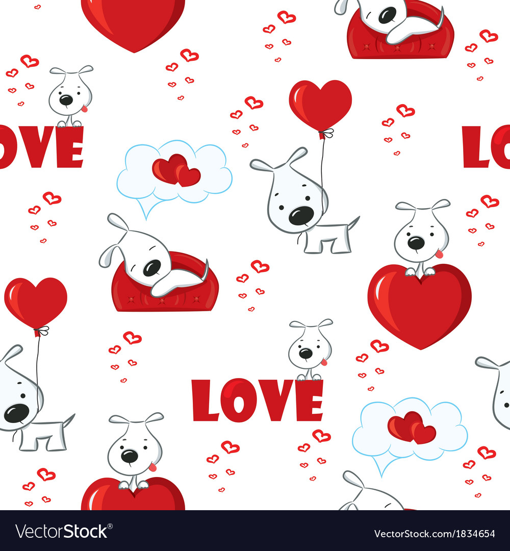 Seamless with dogs vector | Price: 1 Credit (USD $1)