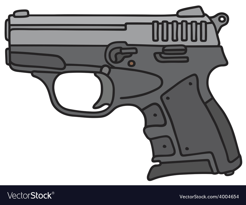 Small handgun vector | Price: 1 Credit (USD $1)