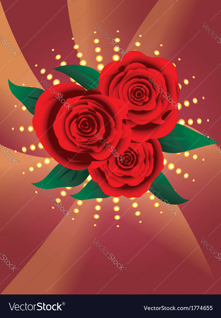 Card with red roses2 vector | Price: 1 Credit (USD $1)