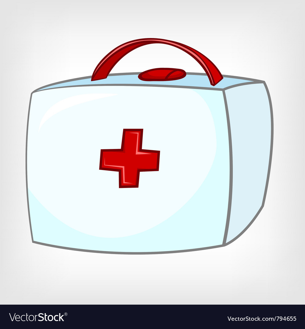 Cartoon home medical kit vector | Price: 1 Credit (USD $1)