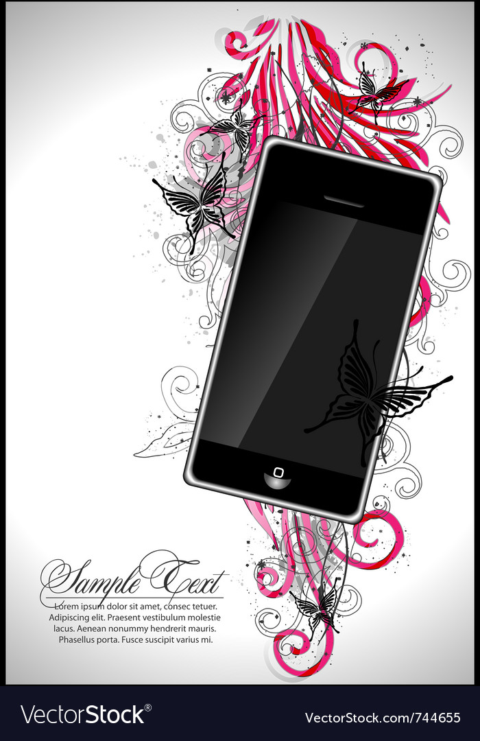 Communication floral vector | Price: 1 Credit (USD $1)