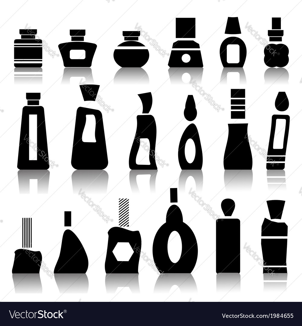 Cosmetic bottles vector | Price: 1 Credit (USD $1)