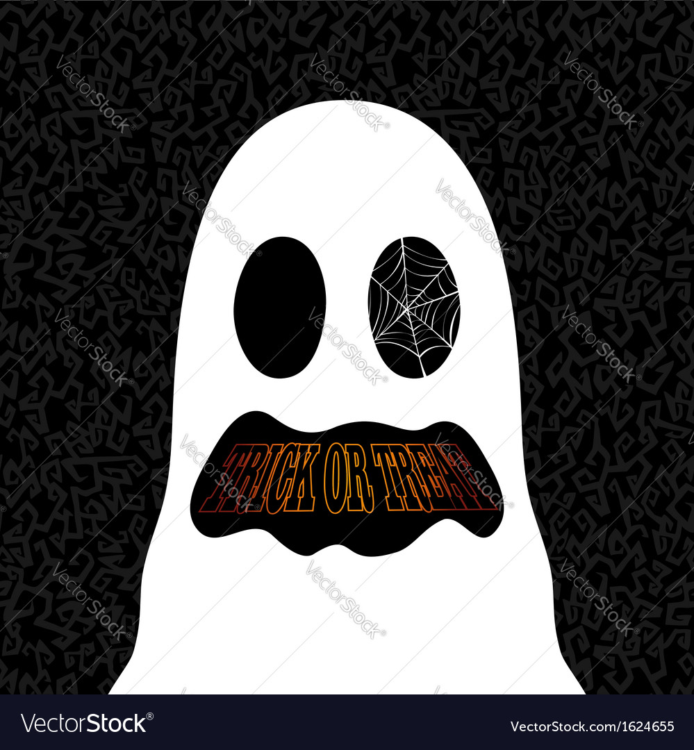 Happy halloween trick or treat ghost drawing eps10 vector | Price: 1 Credit (USD $1)
