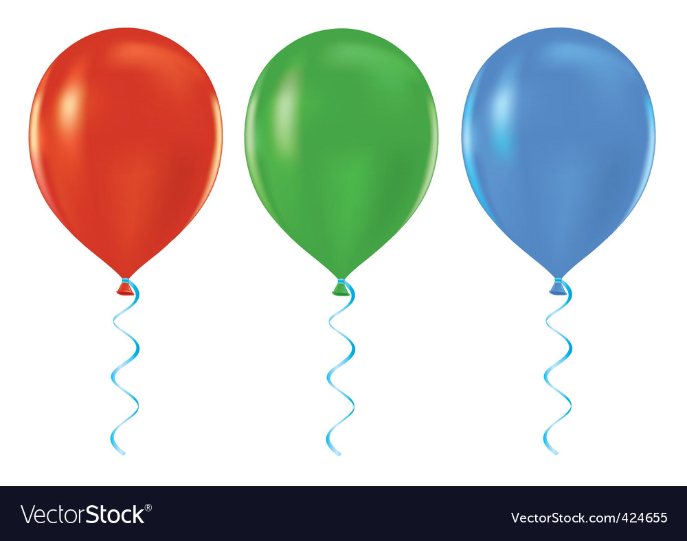 Helium balloons vector | Price: 1 Credit (USD $1)