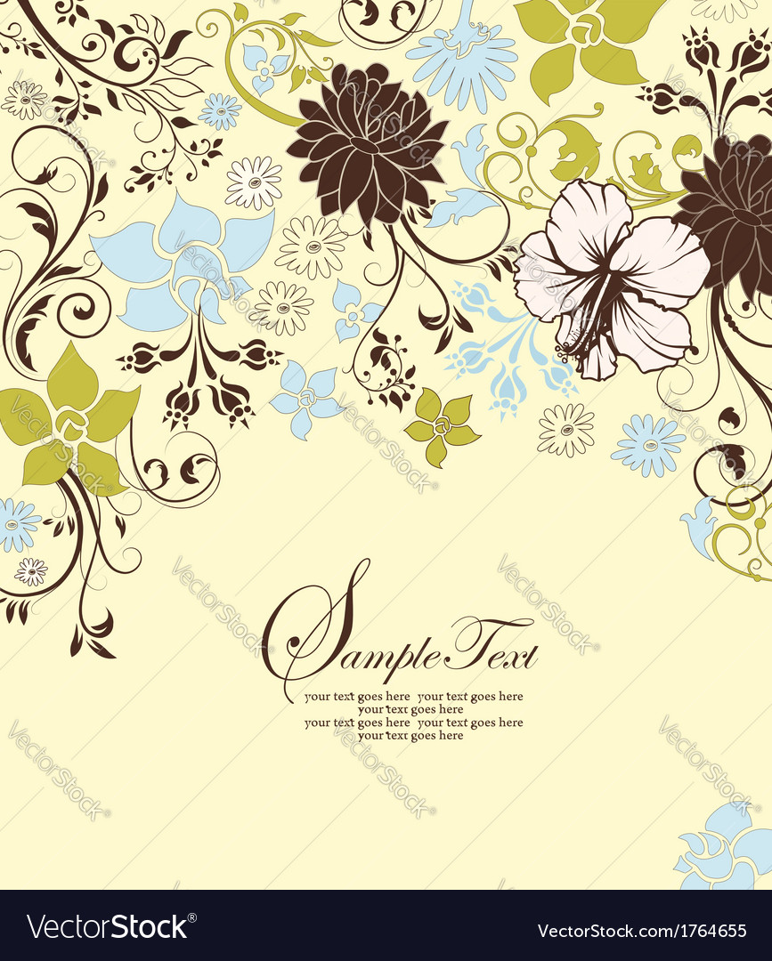 Invitation or wedding card vector | Price: 1 Credit (USD $1)