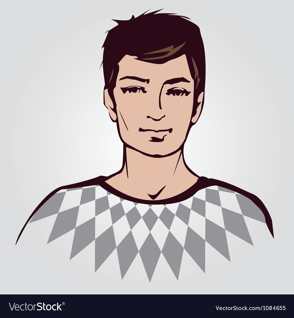 Man face vector | Price: 1 Credit (USD $1)