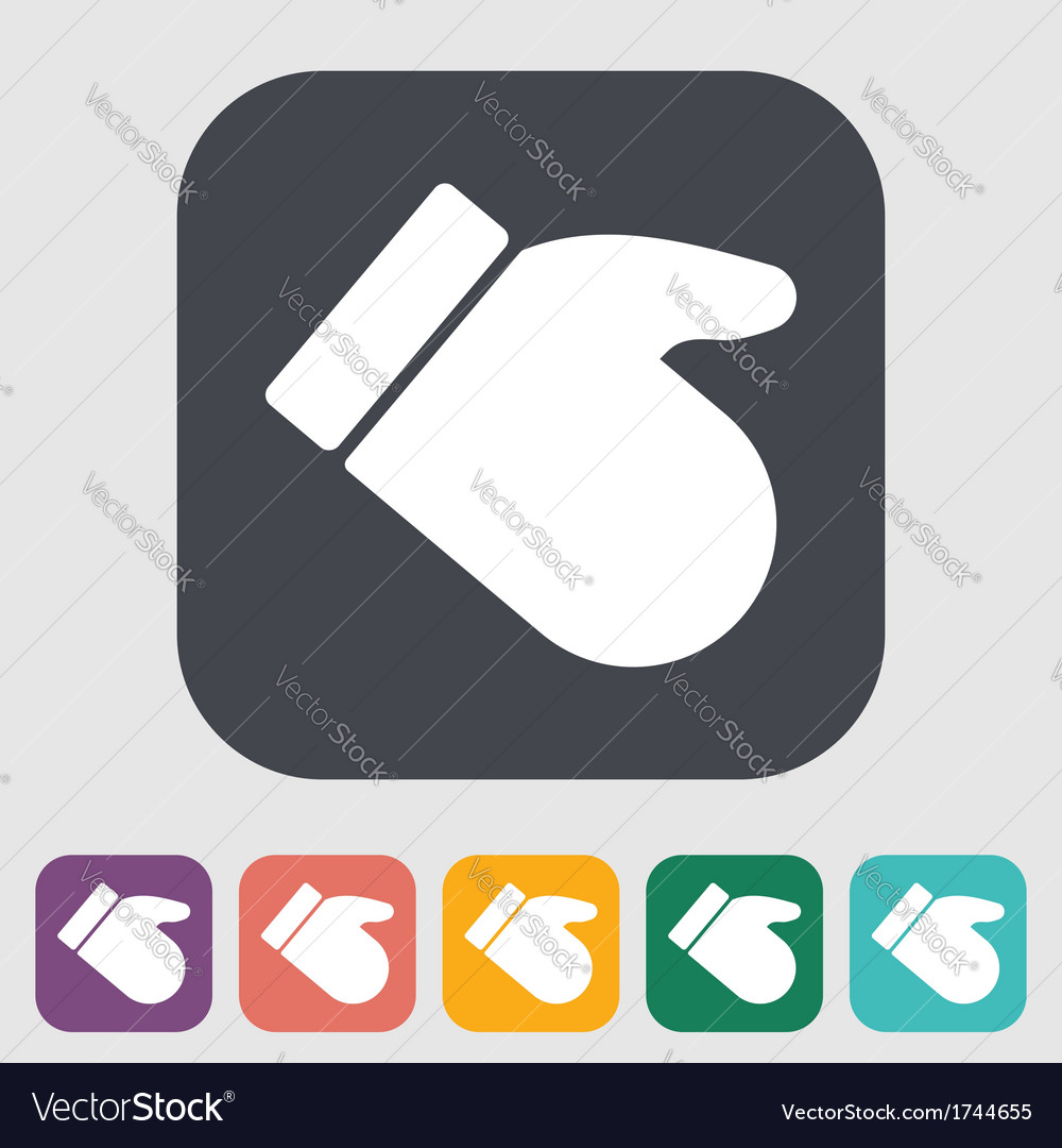 Mitten vector | Price: 1 Credit (USD $1)