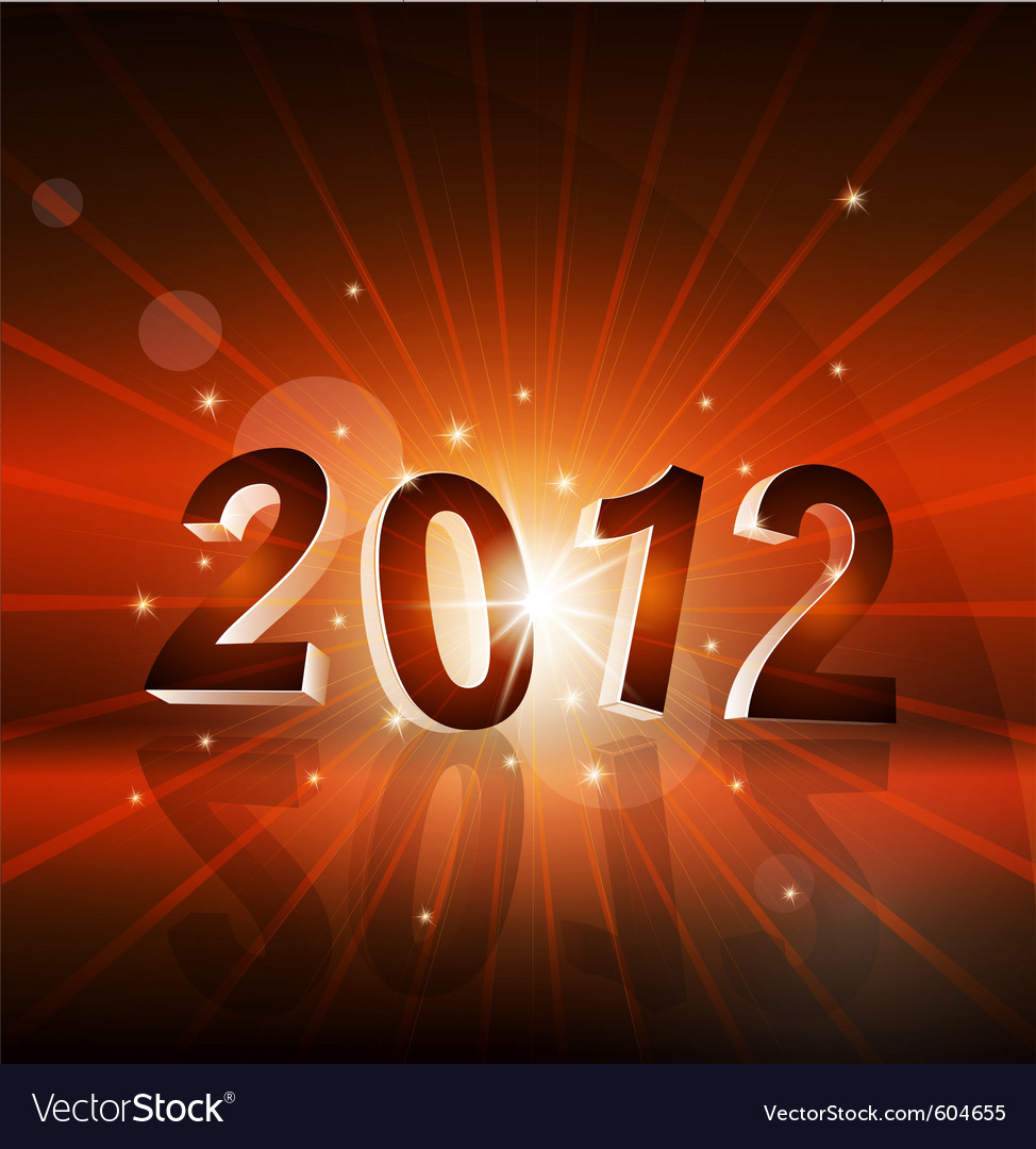 New years background with the numbers 2012 vector | Price: 3 Credit (USD $3)