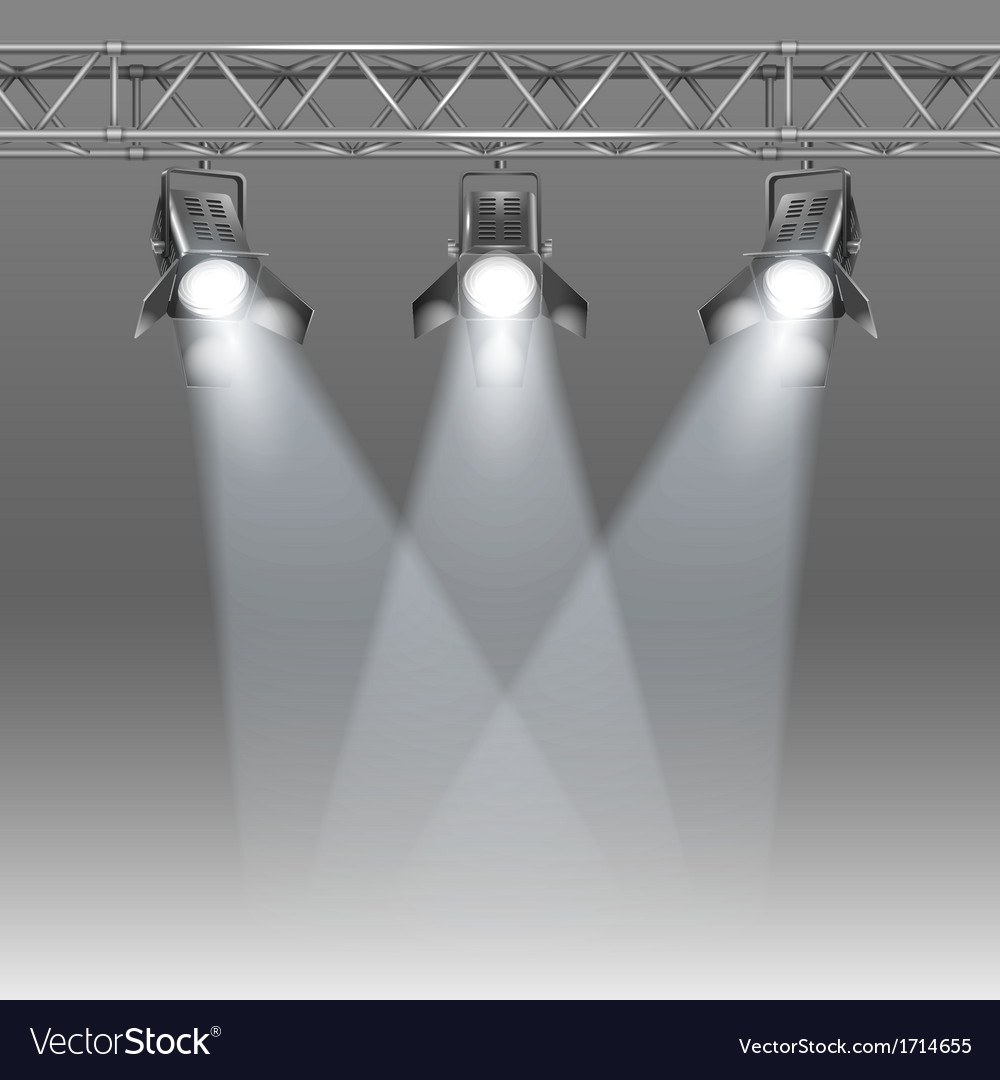 Stage with projectors vector | Price: 1 Credit (USD $1)