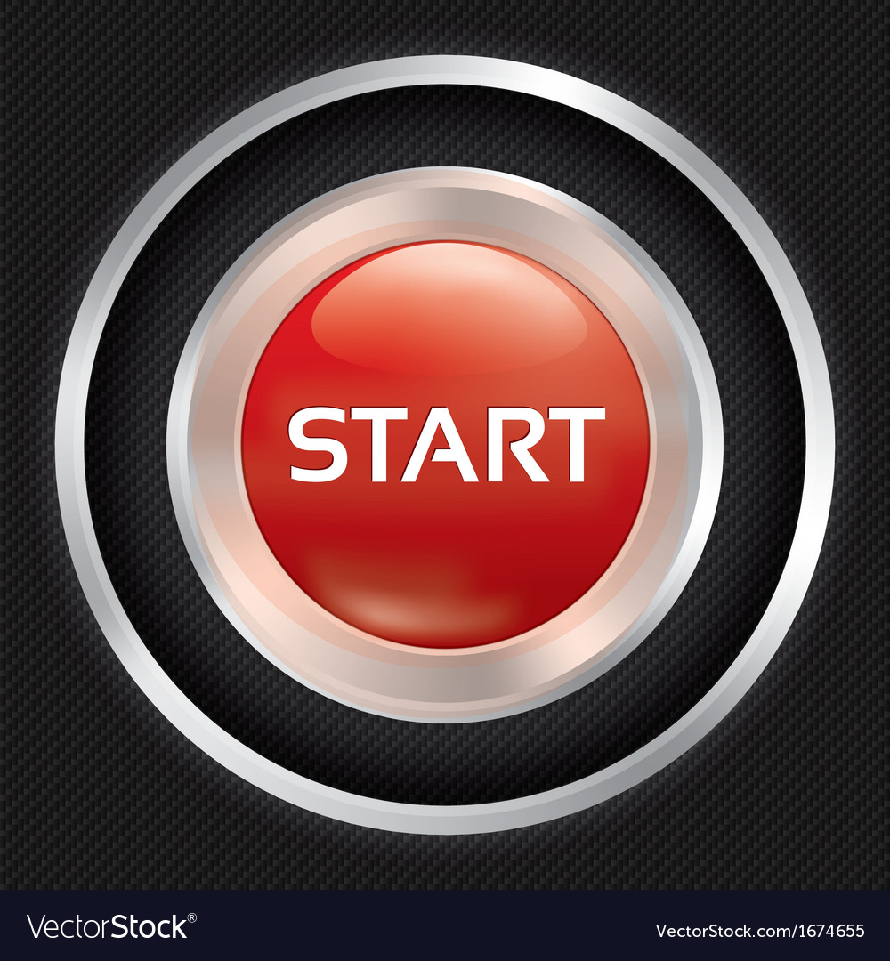 Start button on carbon fiber background vector | Price: 1 Credit (USD $1)