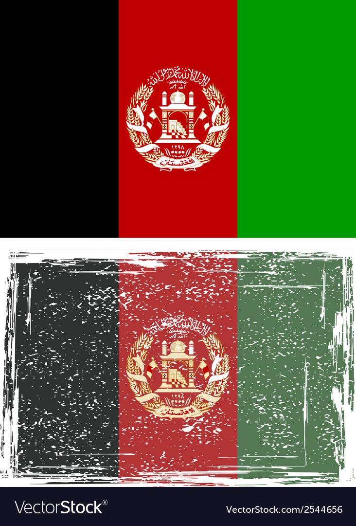 Afghanistan grunge flag vector | Price: 1 Credit (USD $1)