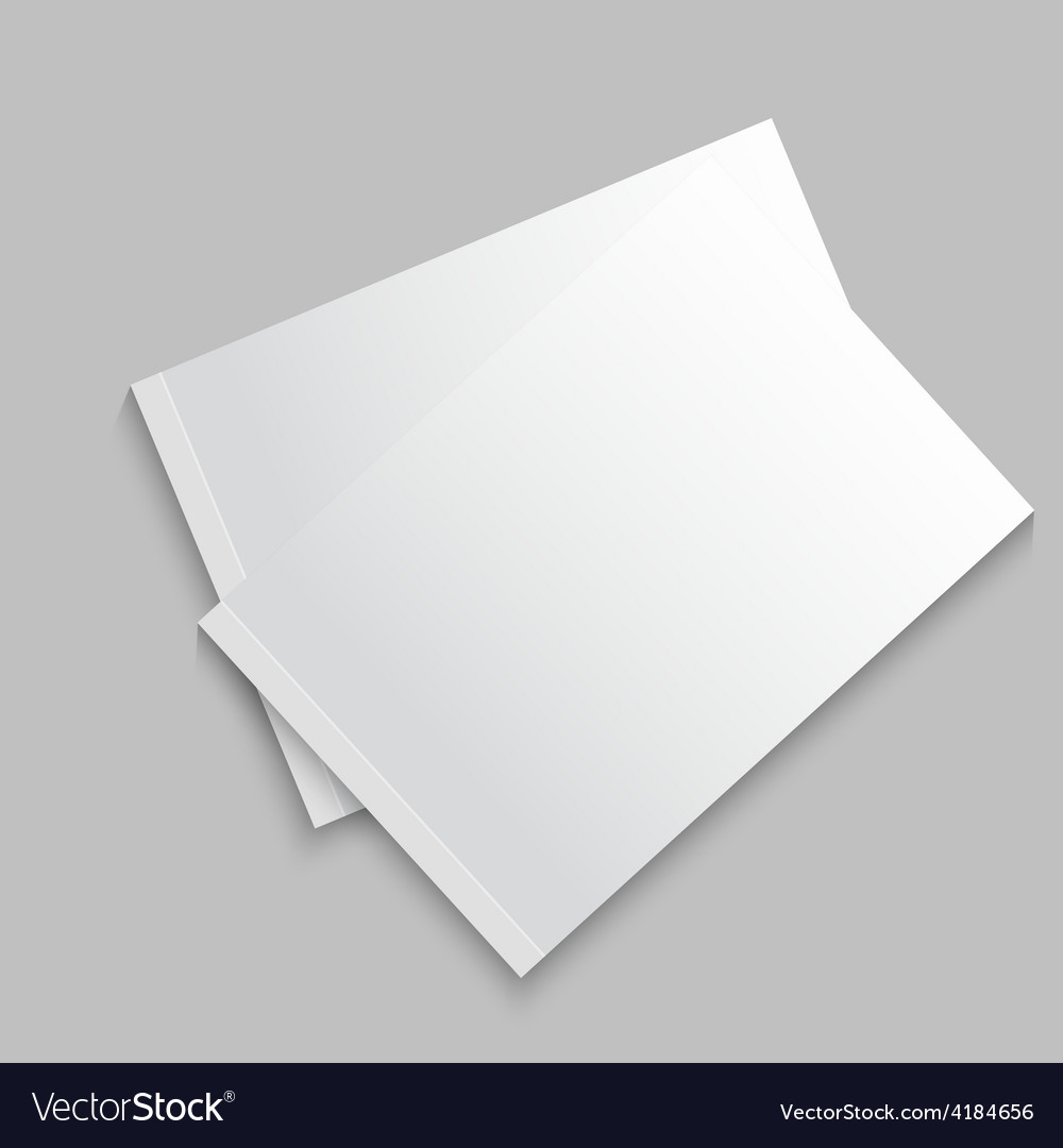 Blank empty magazine album or book vector | Price: 1 Credit (USD $1)