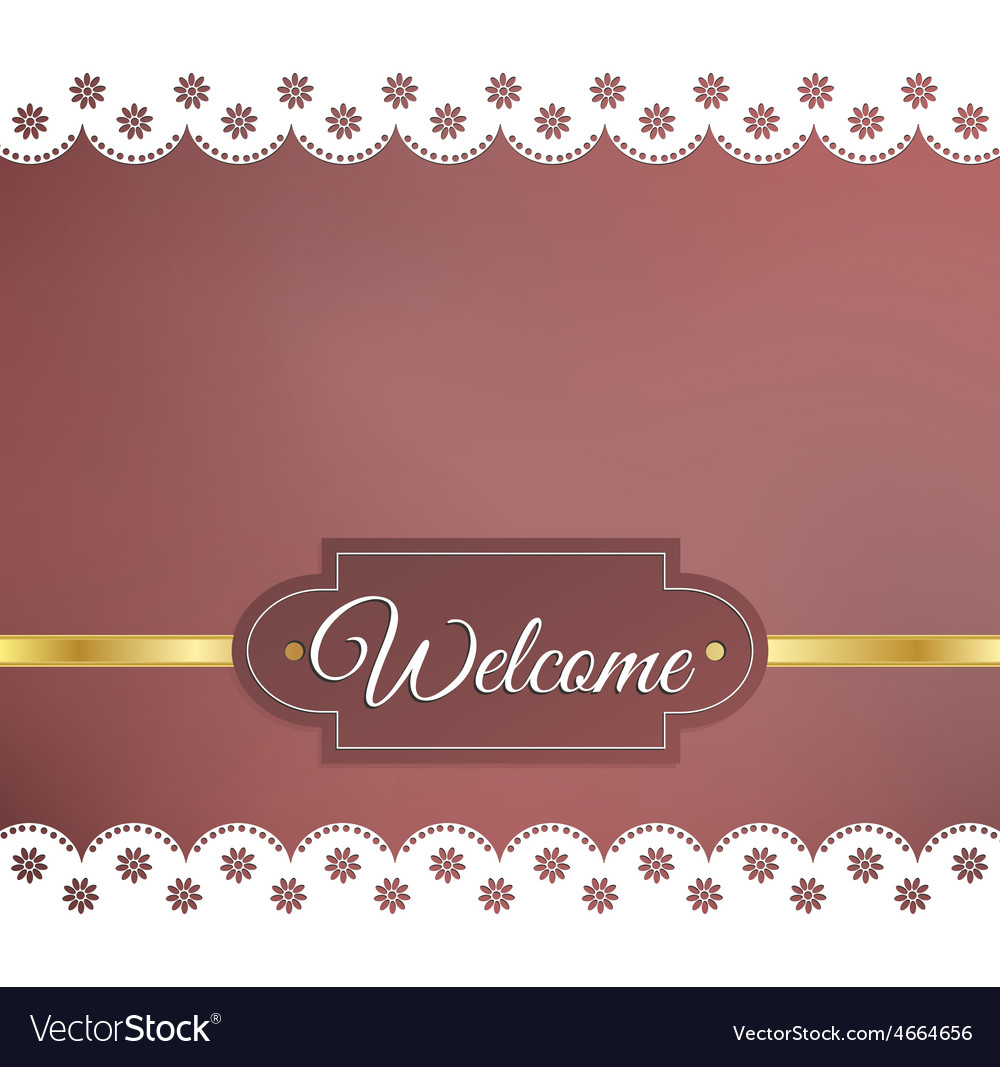 Blurred background napkin welcome vector | Price: 1 Credit (USD $1)