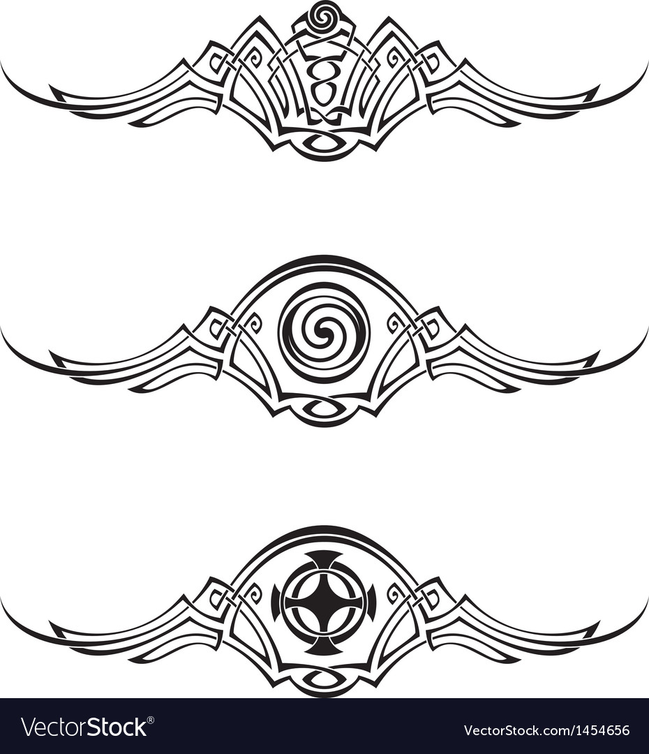 Celtic style patterns vector | Price: 1 Credit (USD $1)