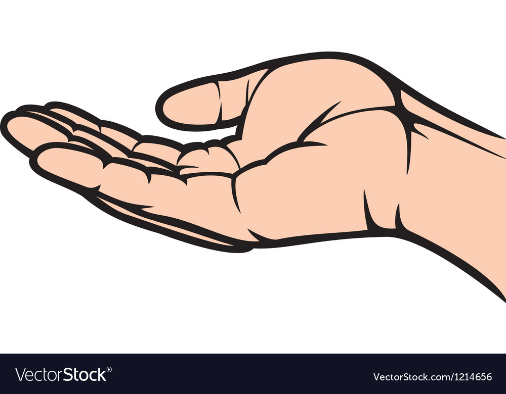 Empty open hand vector