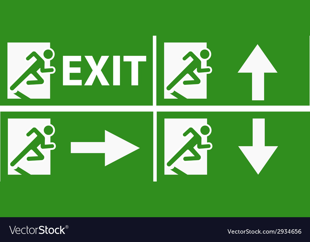 Exit boarders collection isolated vector | Price: 1 Credit (USD $1)