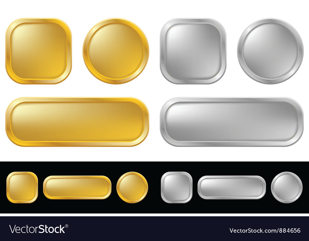 Gold and silver buttons vector | Price: 1 Credit (USD $1)