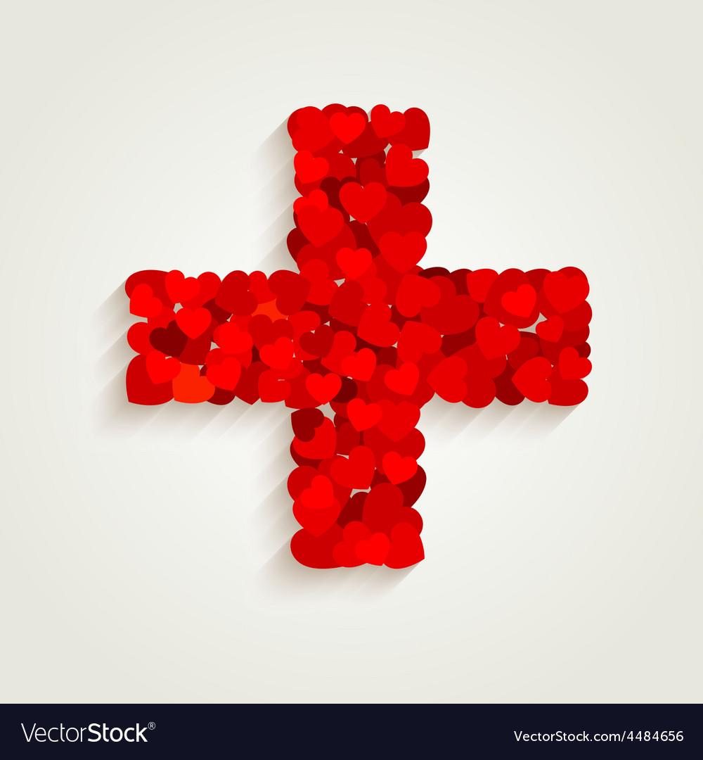 Heart cross vector | Price: 1 Credit (USD $1)