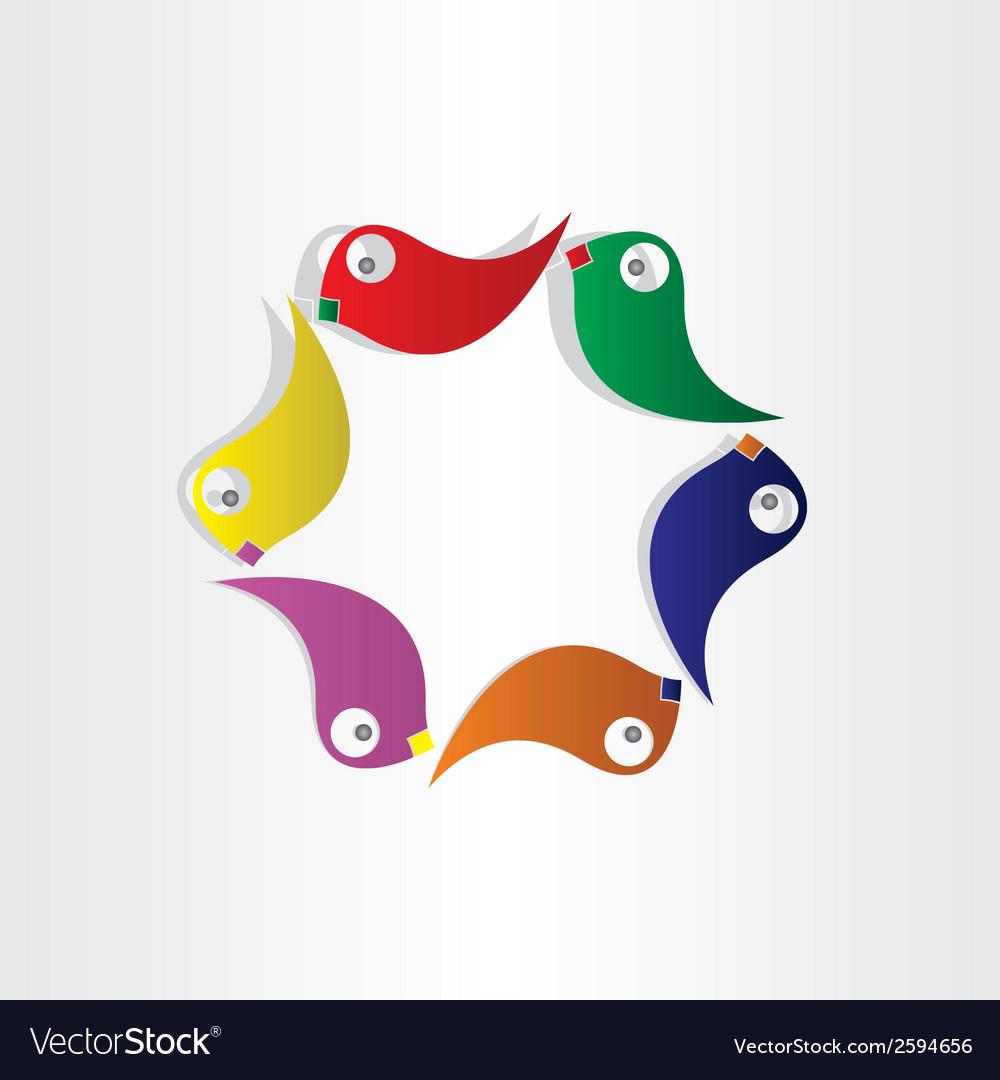 Parrots circle birds symbol vector | Price: 1 Credit (USD $1)