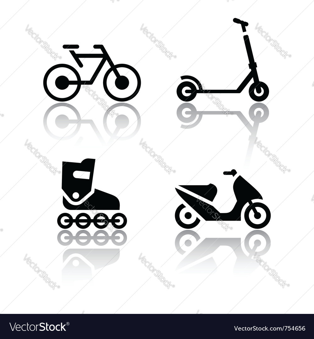 Set of transport icons - extreme sports vector | Price: 1 Credit (USD $1)