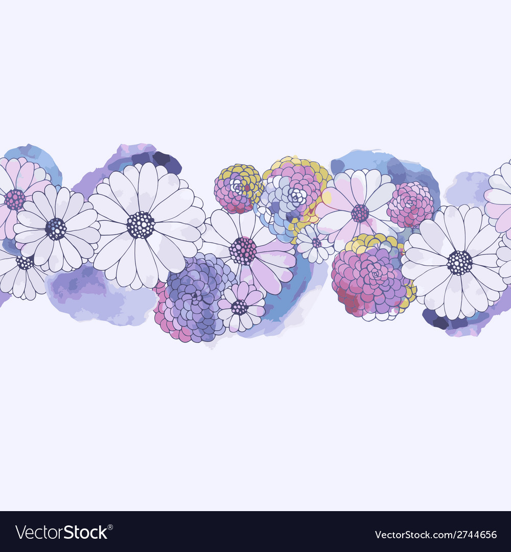 Watercolor floral background vector | Price: 1 Credit (USD $1)