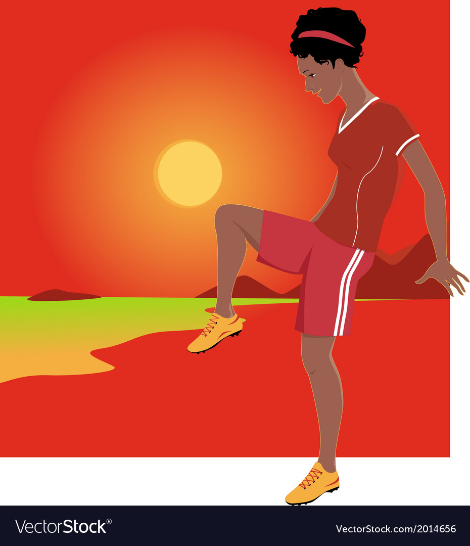 Youth soccer vector
