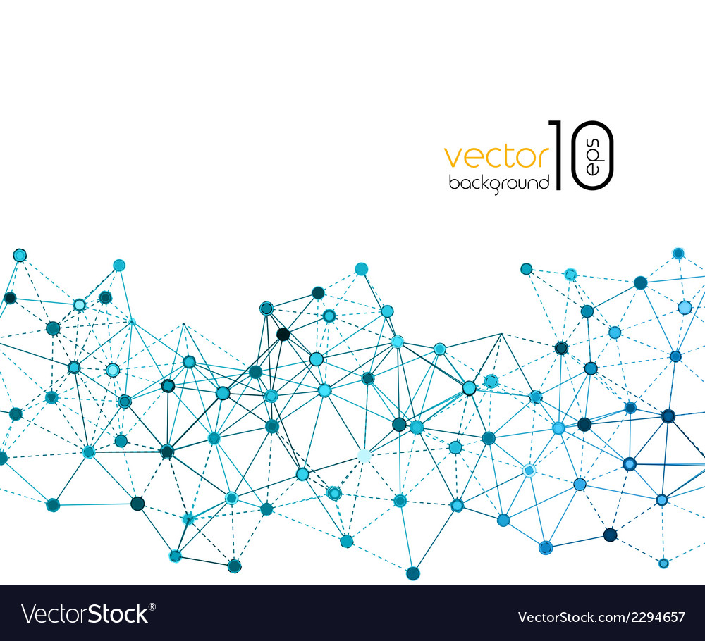 Abstract molecule and communication background vector   Price: 1 Credit (USD $1)