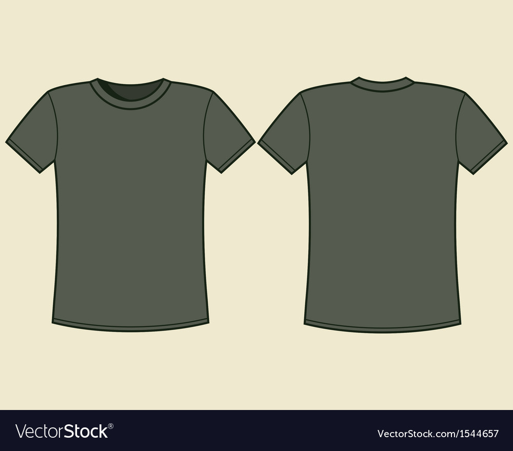 Blank t-shirt template vector | Price: 1 Credit (USD $1)