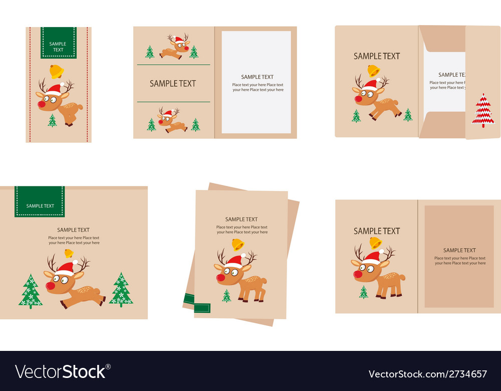 Brand identity deer christmas retro vector | Price: 1 Credit (USD $1)