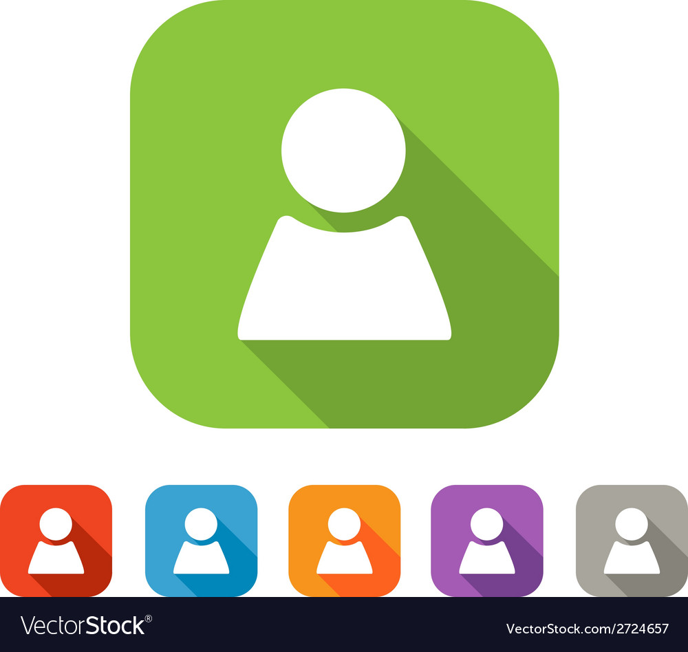 Color set of flat person icon vector | Price: 1 Credit (USD $1)